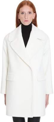 Tagliatore Astrid Coat In White Wool