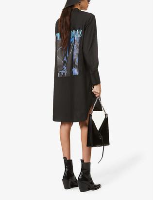 The Kooples Graphic-print cotton-poplin mini dress