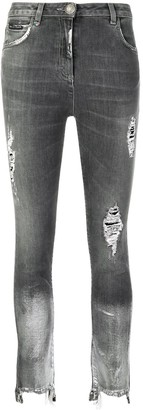 Philipp Plein Coated Hem Jeans