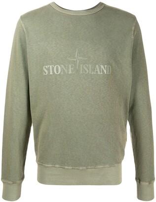 Stone Island Logo Print Sweatshirt