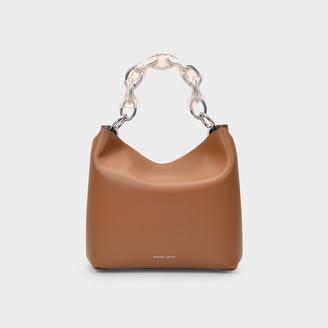 Danse Lente Handbag Ela In Brown Leather
