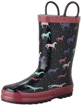 Western Chief Kids' Cute Horses Rain K Pull-On Boot