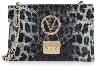Mario Valentino Isabelle Animalier Leopard Leather Crossbody Bag