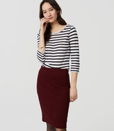 LOFT Jacquard Pull On Pencil Skirt