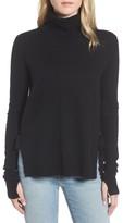 Pam & Gela Women's Distressed Turtleneck Sweater