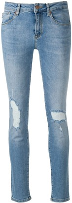 Love Moschino Distressed Slim-Fit Jeans