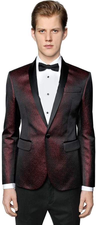 DSQUARED2 Cotton Blend Jacquard Tuxedo Jacket
