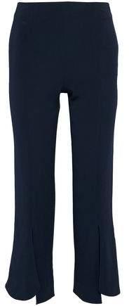 Cushnie et Ochs Cropped Ruffled Stretch-Crepe Straight-Leg Pants
