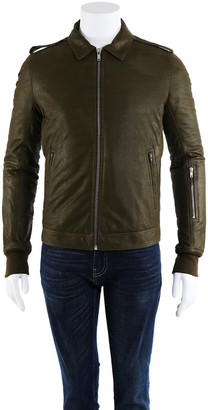 Rick Owens Men's Rotterdam Lambskin Leather Jacket (Size It 50, New With Tags)
