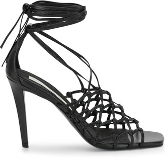 Stella McCartney Ankle-Tie Lattice Sandals