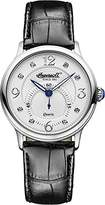 Ingersoll Quartz Women's Quartz Watch with White Dial Analogue Display and Black Leather Strap INQ022WHSL