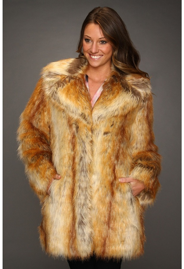 Nicole Miller Red Fox Chubby Coat (Red Fox) - Apparel