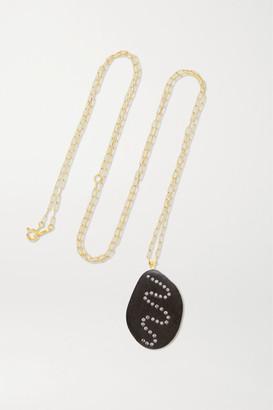 Cvc Stones Eddy 18-karat Gold, Stone And Diamond Necklace - one size