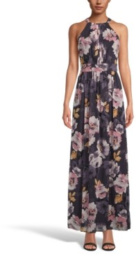 INC International Concepts Inc Floral-Print Halter-Neck Maxi Dress, Created for Macy's