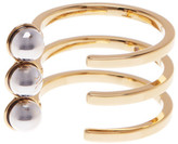 Rebecca Minkoff Two-Tone Bead Wrap Ring - Size 7