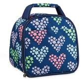 Fit & Fresh Kids Gabby Heart Print Insulated Lunch Bag in Blue