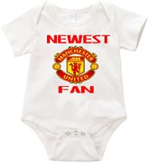 VRW Newest Manchester United fan baby unisex Onesie Romper Bodysuit (3-6months, )