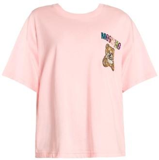 Moschino Embellished Bear Logo T-Shirt