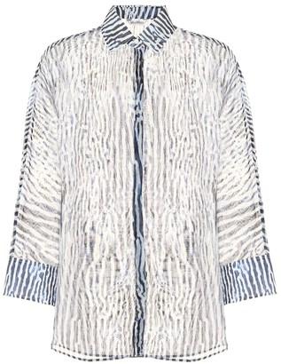 Max Mara Prati printed silk and cotton shirt