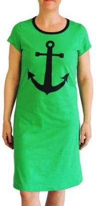 The Haley Boutique Green Anchor T-Dress