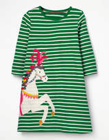 Boden Appliqué Jersey Dress