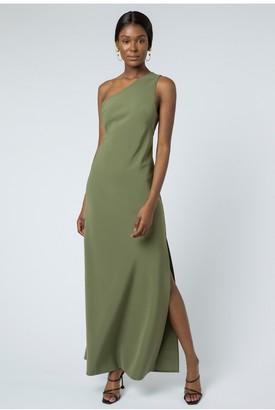 Linzi AQ/AQ Lana One Shoulder Maxi Dress - Olive