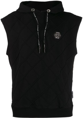 Philipp Plein Statement sleeveless hoodie