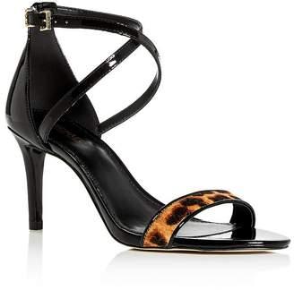 MICHAEL Michael Kors Women's Ava Strappy Leopard-Print High-Heel Sandals