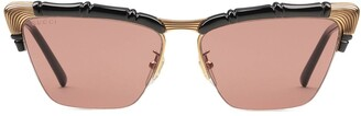 Gucci Bamboo cat-eye frame sunglasses