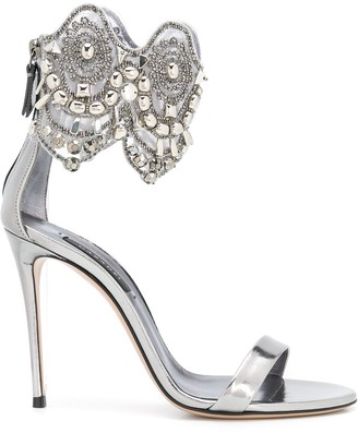 Casadei Embellished Ankle Strap Sandals