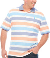 Izod Short Sleeve Stripe Knit Polo Shirt Big and Tall