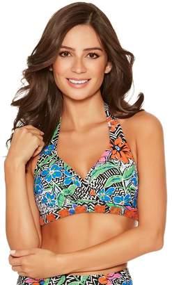 M&Co Chevron halterneck bikini top