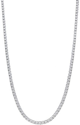 Nephora 14K White Gold Diamond Tennis Necklace