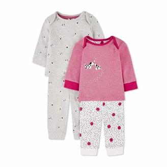 Mothercare Baby Girls' G Spotty Puppy 2PK PJ Pyjama Sets