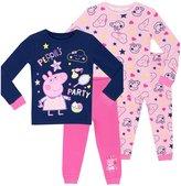 Peppa Pig Girls' 2 Pack Pajamas