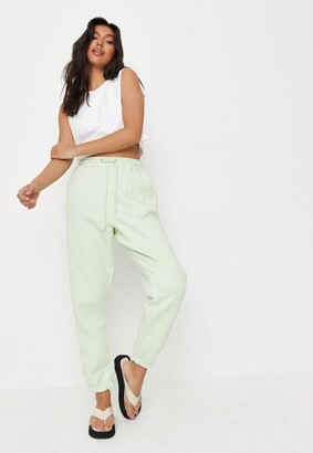 Missguided Green Oversized 90S Joggers