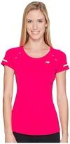New Balance NB Ice Short Sleeve Shirt Women's Short Sleeve Pullover