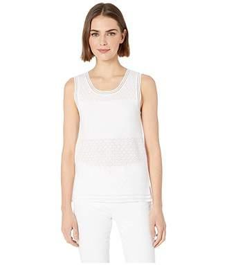 BCBGeneration Sleeveless Pullover Sweater - TVZ5194863 (Optic White) Women's Sweater