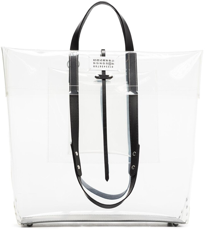 Thumbnail for your product : Maison Margiela Large Logo-Patch Tote Bag