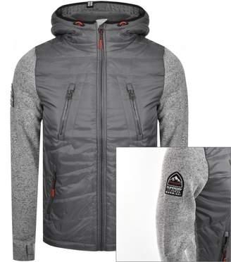 Superdry Storm Hybrid Hooded Jacket Grey