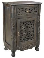 Bungalow Rose Buena Park 1 Drawer Nightstand Finish: Antique Black, Door Configuration: Left