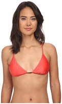 Vix Solid Coral Red Stairs Top