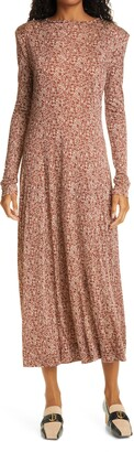 Rodebjer Acela Swirl Long Sleeve Dress