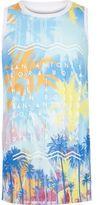 River Island Boys blue Ibiza print tank