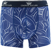 Joules Odd Shaped Balls Rugby Print Trunks, Blue
