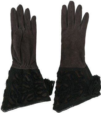 Giorgio Armani Pre Owned Mid-Length Embellished Gloves