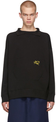 Raf Simons Black Illusion Collar Sweatshirt