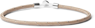 Miansai Nexus Rope And Sterling Silver Bracelet