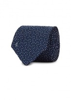 Eton Blue Grenadine-woven Silk Blend Tie