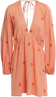 SUNDRESS Chicago Embroidered Gauze Mini Dress